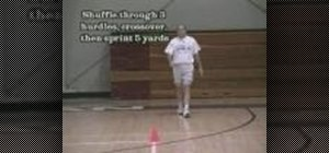 Train using lateral to forward hurdle drills