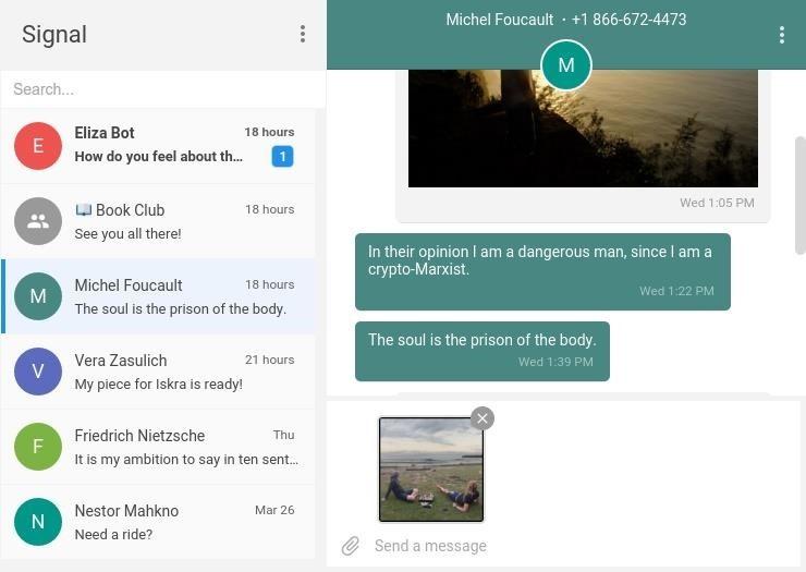 Signal, Snowden's Favorite Secure-Messenger App, Is Now on Your Desktop