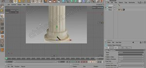Create a 3D model of a pillar & egg in MAXON Cinema 4D