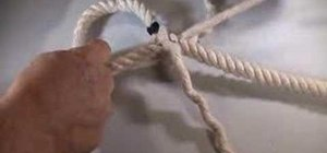 Tie an eye splice loop into the end of a rope