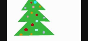 Draw a Christmas tree on MS Paint