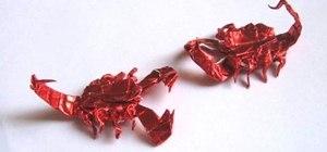 Origami a scorpion