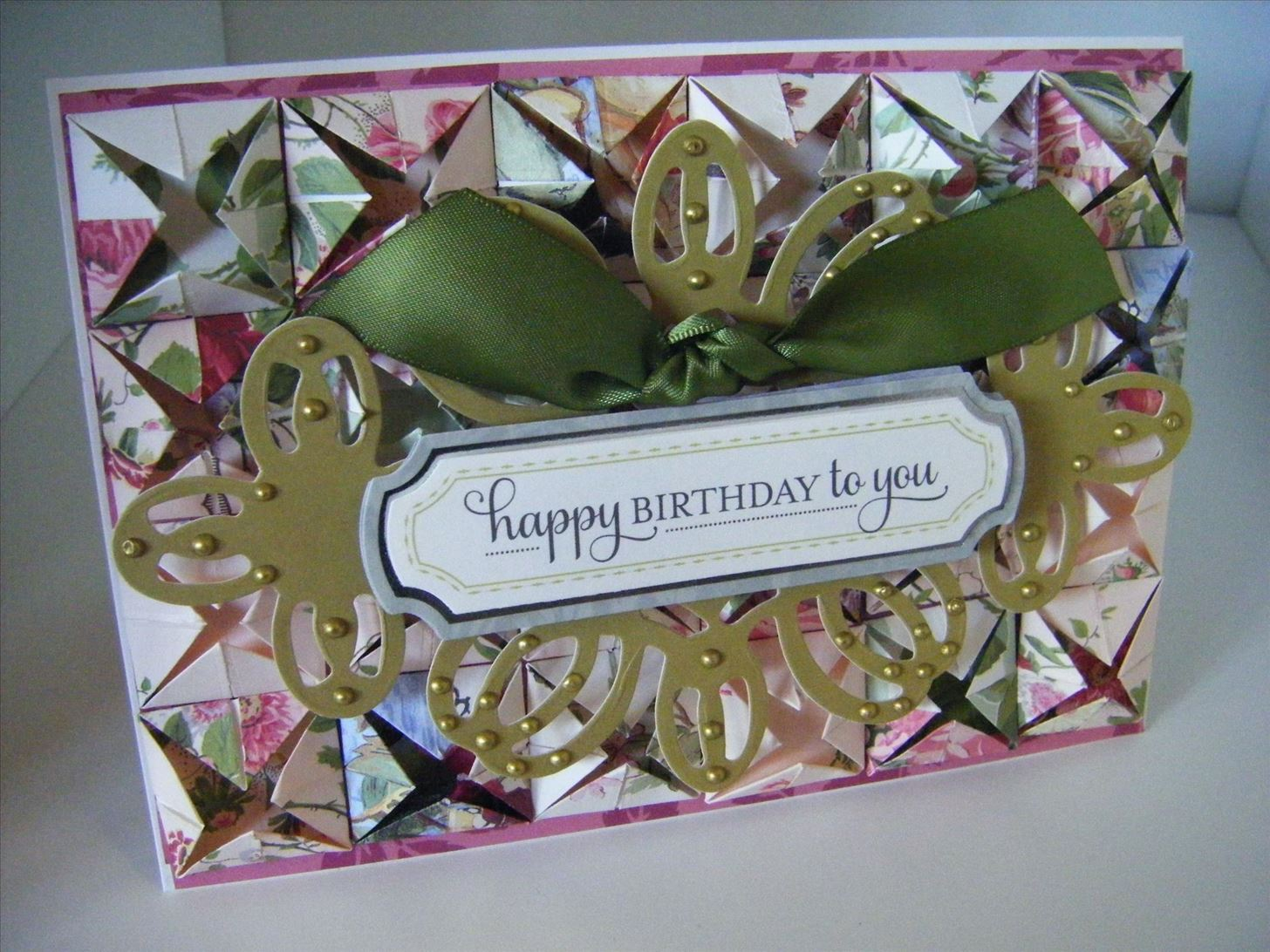 How to Make a Fancy Rose Paperfolding Card