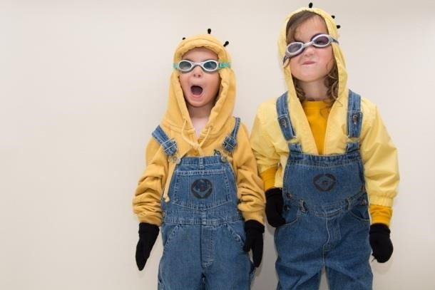 picture relating to Minion Logo Printable identify Bee-Do, Bee-Do! 5 Astounding Do it yourself Minion Halloween Costumes in opposition to