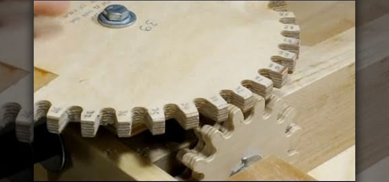How To Make Wooden Gears For Complex Woodworking Projects Furniture Woodworking Wonderhowto