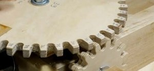 Make wooden gears for complex woodworking projects