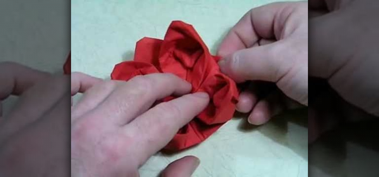 How to Make an Origami Lotus