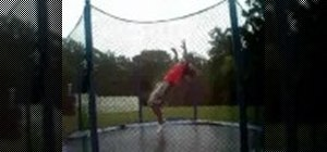 Link tricks  on a trampoline
