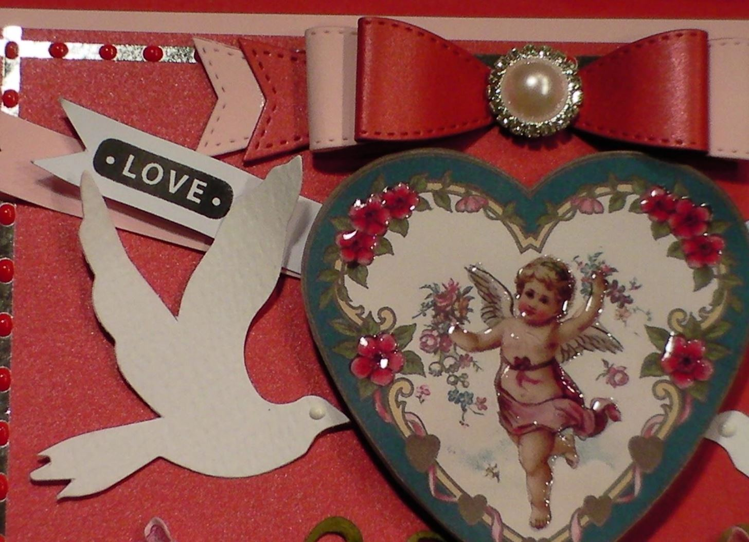 How to Make a Victorian Vintage Cherub Valentine Card