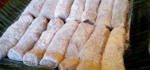 Make Filipino espasol (sweet rice flour cake)