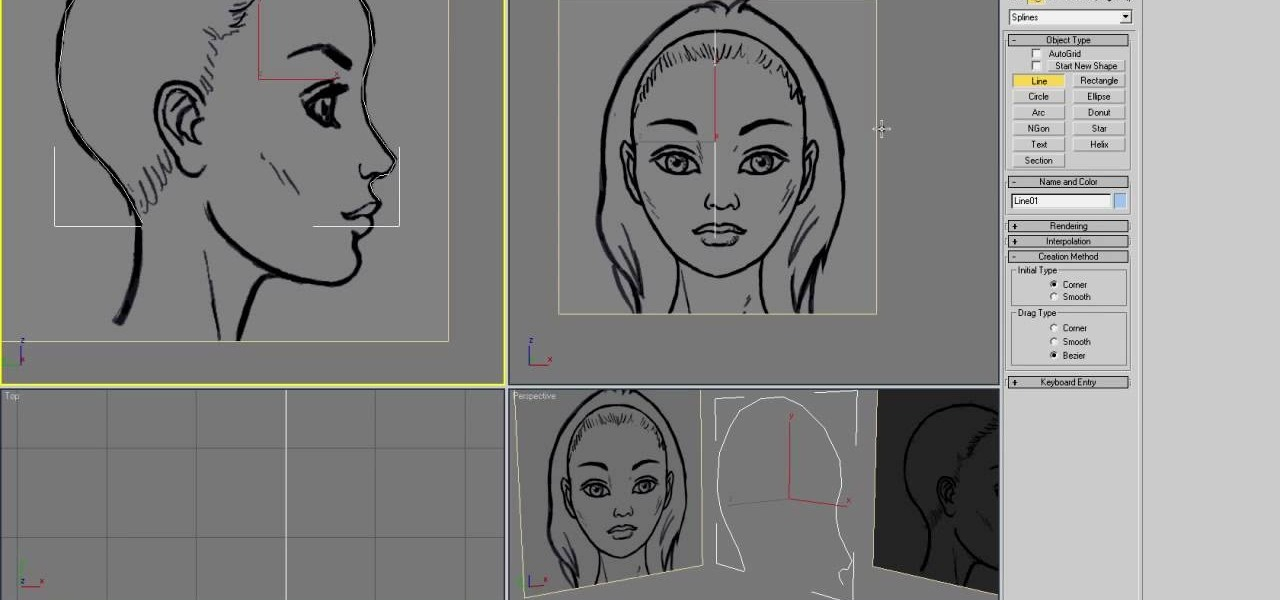 How to model a 3d head using 3d studio max autodesk 3ds max for 3d studio max models