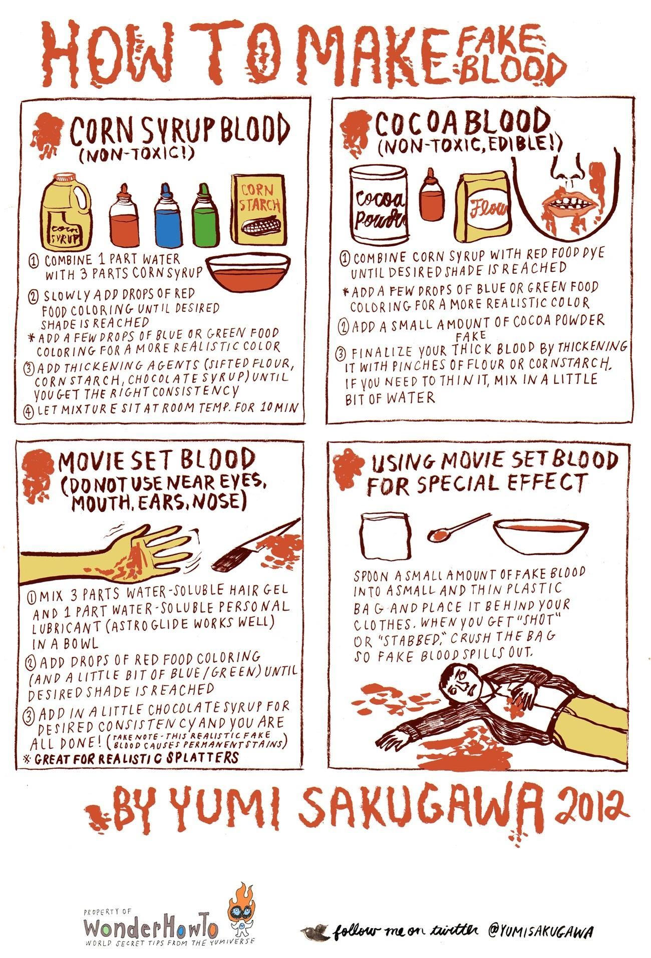 How To Make Realistic Looking Fake Blood The Secret Yumiverse