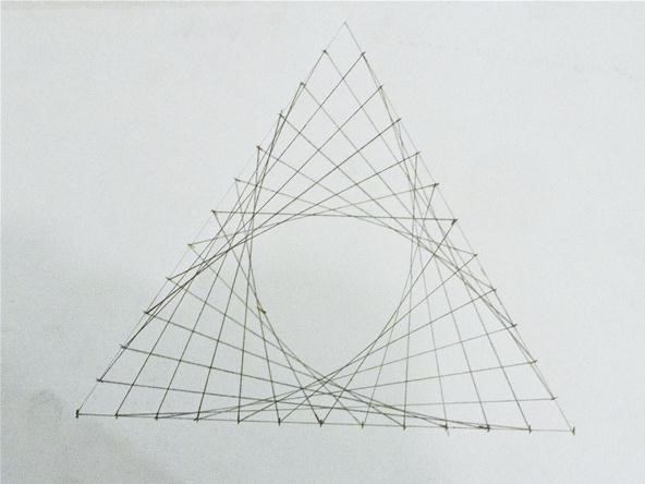 Straight Line Designs In Art : How to create parabolic curves using straight lines « math