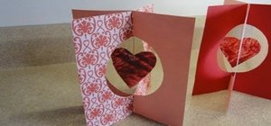 Craft a pretty 3D stand up card with hanging stained glass crayon hearts
