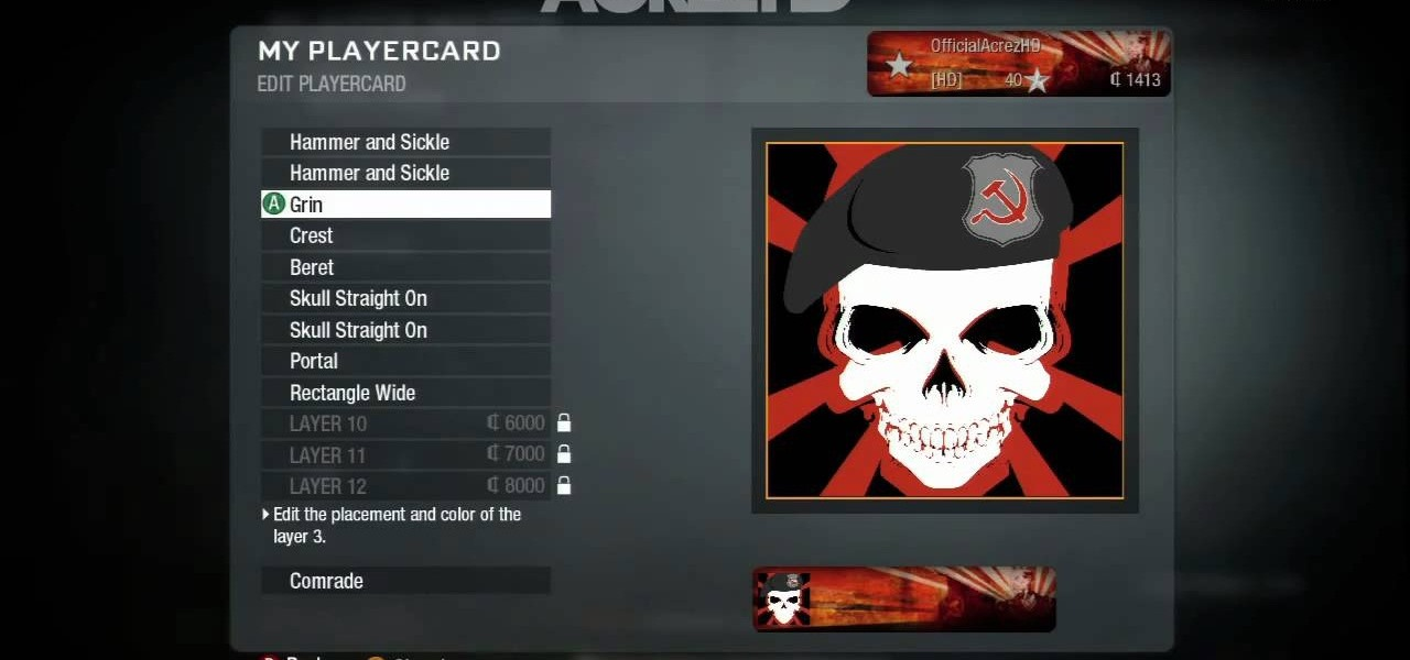 how to create a skull logo playercard emblem in call of duty black ops 171 xbox 360 wonderhowto
