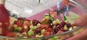 Prepare a fresh bean salad