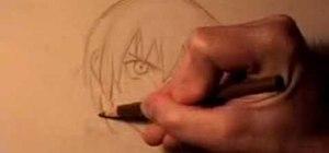 Draw an anime/manga style angry young man