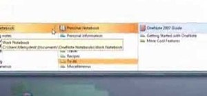 Use Microsoft Office OneNote 2007