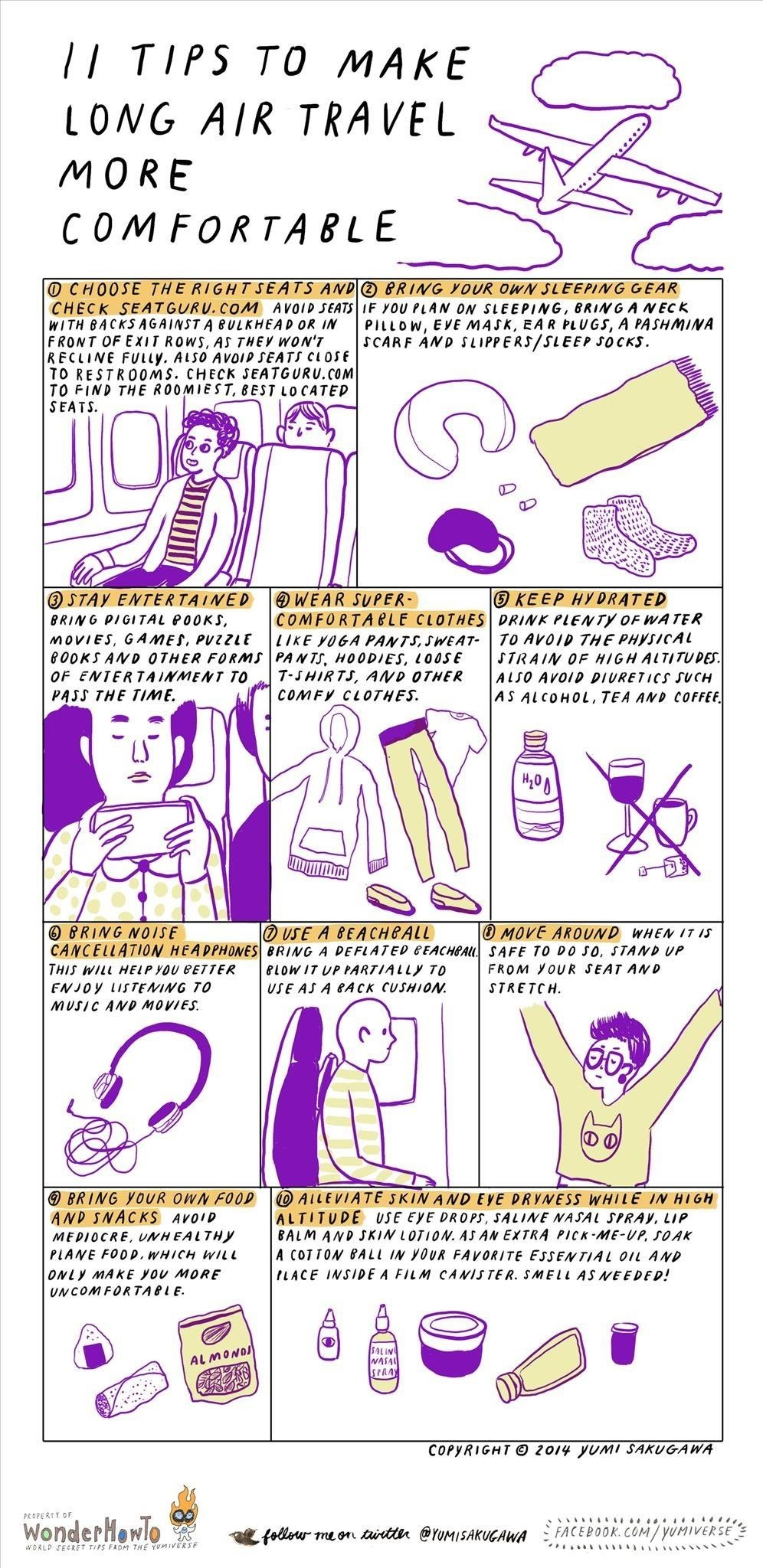 How to Make Long Holiday Flights More Comfortable