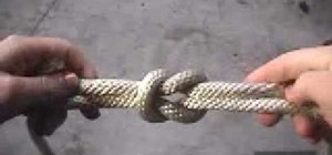 Tie a useful square knot