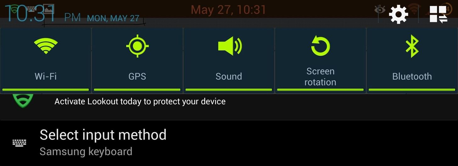 How to Get Rid of the Annoying Input Notification & Keyboard Icon on Your Samsung Galaxy S4