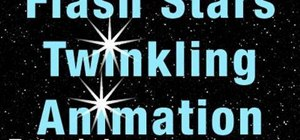 Create twinkling star animations in Adobe Flash CS5