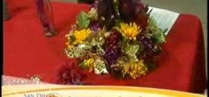 Make a green, recycled centerpiece for your Thanksgiving table