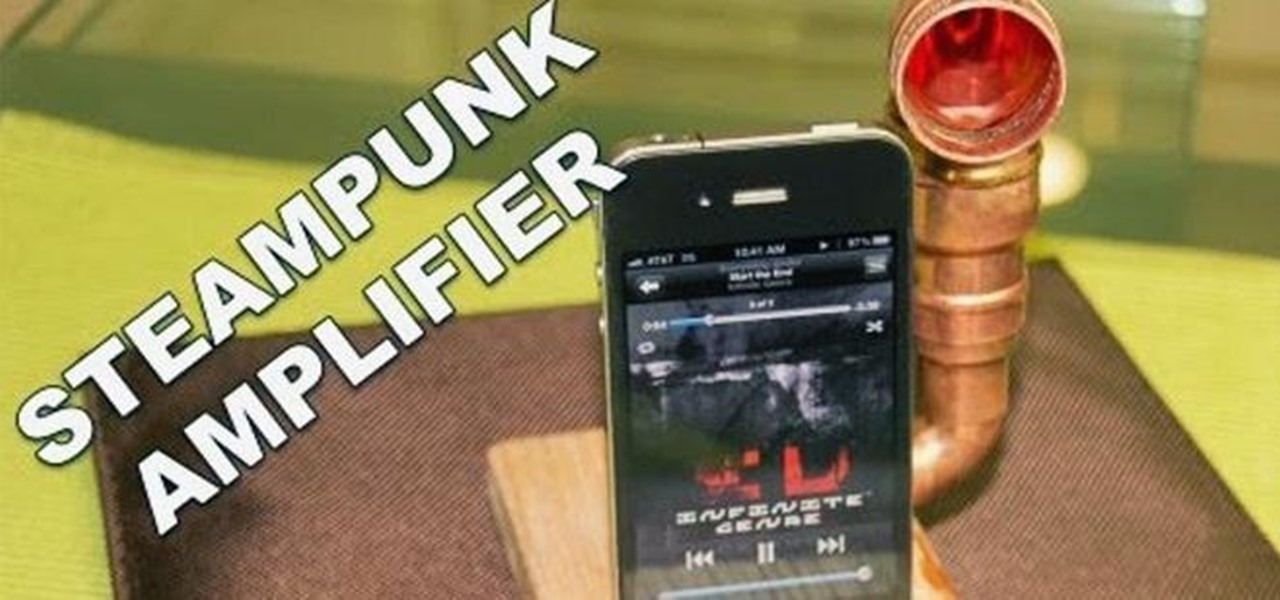 Increase Your iPhone's Volume by 14 dB with This DIY Steampunk Music Amplifier