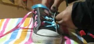 Tie your Converse shoelaces in a very cutesy, girly way