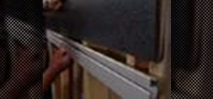 Install a slatwall shelving system
