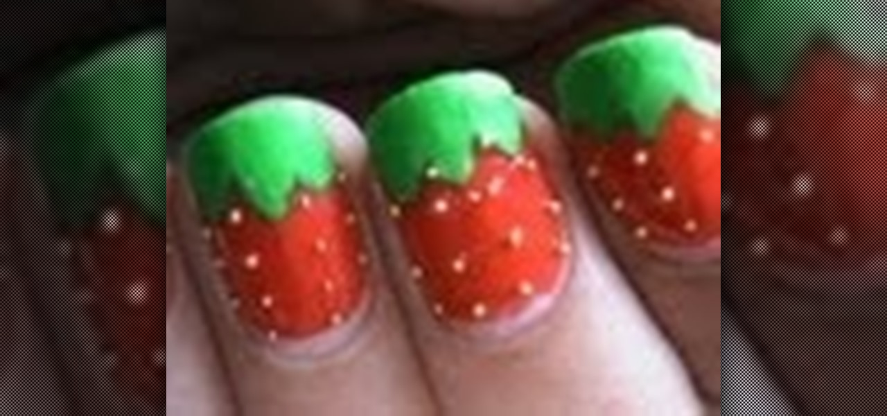 Do Glossy and Matte Strawberry Nails