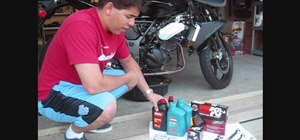 Change oil, filter, and gasket on a Ninja motorcycle