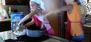 Make Rice Krispie treats