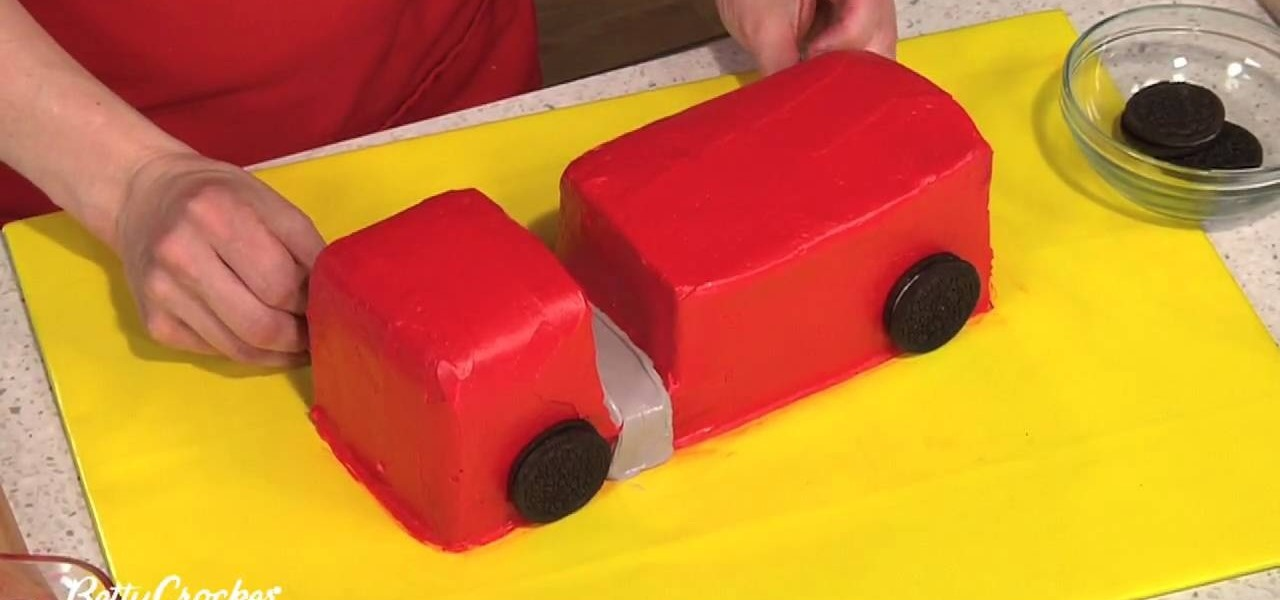How To Make A Fire Truck Birthday Cake Decorating WonderHowTo