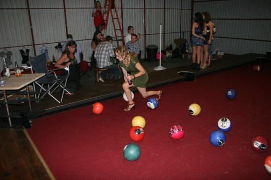 Billiards, Wonderland Style (Or: A Pool Table the Size of a Pool)