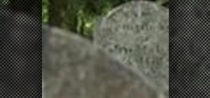 Make a grave rubbing