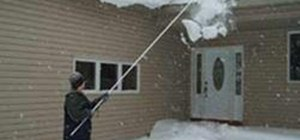 Use a Roof Rake (Removing Snow & Ice from Your Home's Rooftop)