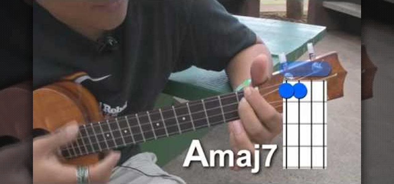 How to Play movable major 7th chord shapes on the ukulele u00ab Ukulele