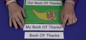 "Make a Thanksgiving ""Book Of Thanks"" with your kids"