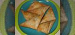 Make a quick and easy Greek tyropitakia (cheese triangles)