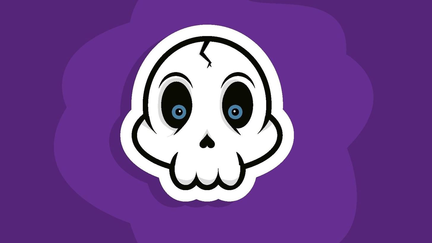 How to Create a Cartoon Skull Sticker Vector in Illustrator