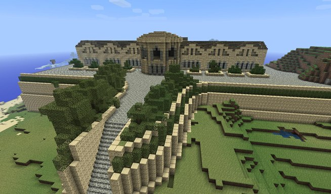 Minecraft world 39 s weekly server challenge buildings for The idea of space in greek architecture