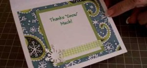 "Make a ""thanks snow much"" card using Cricut"