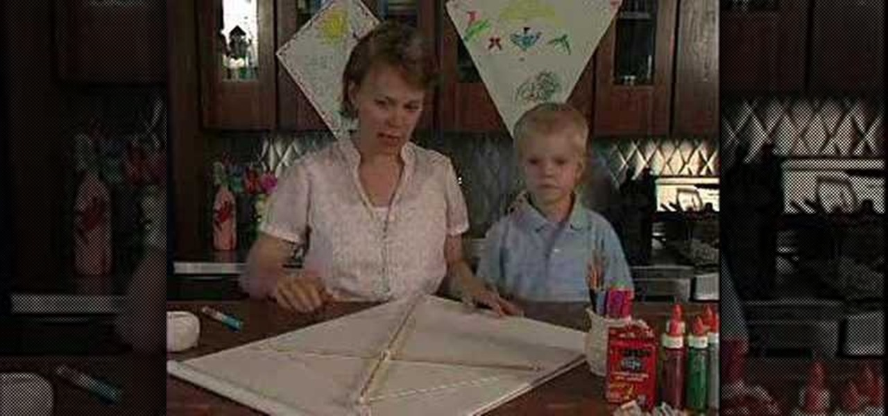 How To Construct A Homemade Kite Out Of Heavy Craft Paper