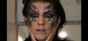 Create an evil fairy makeup look