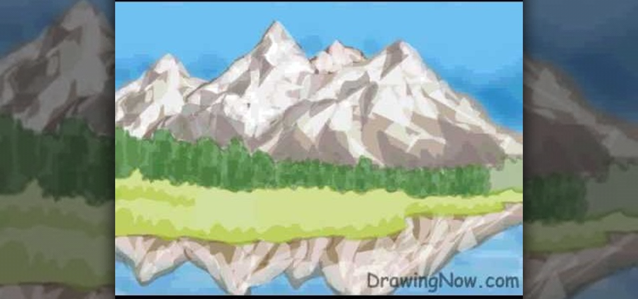 How To Draw A Mountain Scene On Your Computer Drawing