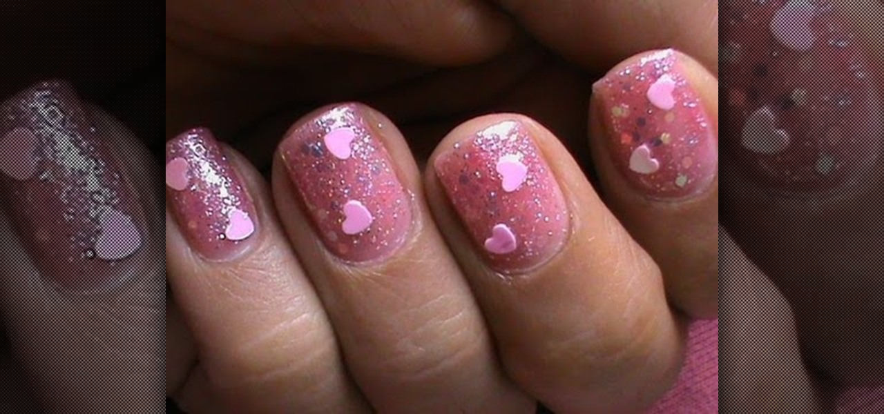 Do Glitter Hearts Nails
