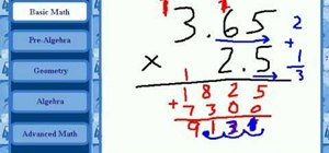 Multiply decimal numbers in basic math