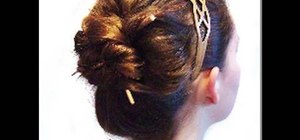 Style your hair using chopsticks