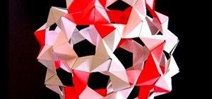 Origami Buckminster Fuller molecule balls